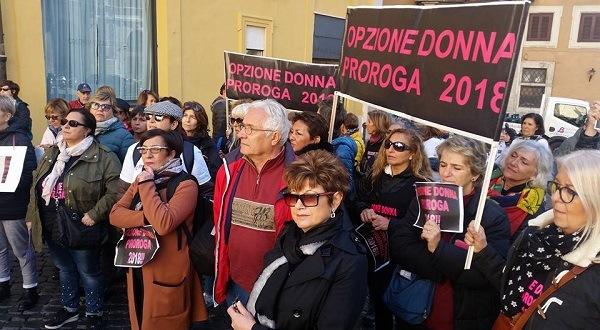 Pensioni Opzione donna ed esodati oggi 11 novembre: il racconto della manifestazione
