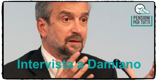 Pensioni, intervista a Damiano