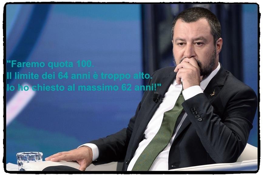 Salvini e quota 100