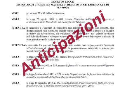 Pensioni quota 100 e opzione donna: ecco il decreto che sarà approvato il 17 gennaio