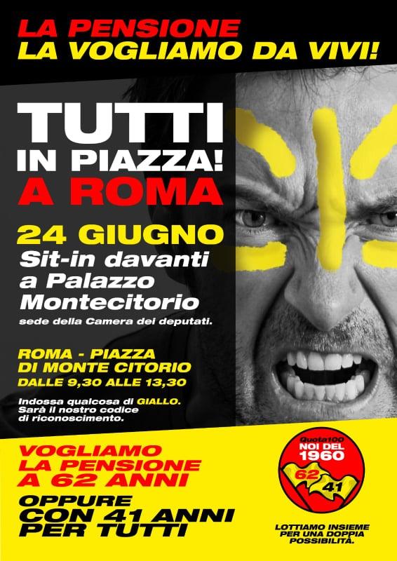 Riforma pensioni 2021, tutti in piazza a Roma il 24 giugno: quota 41 e uscita dai 62 anni
